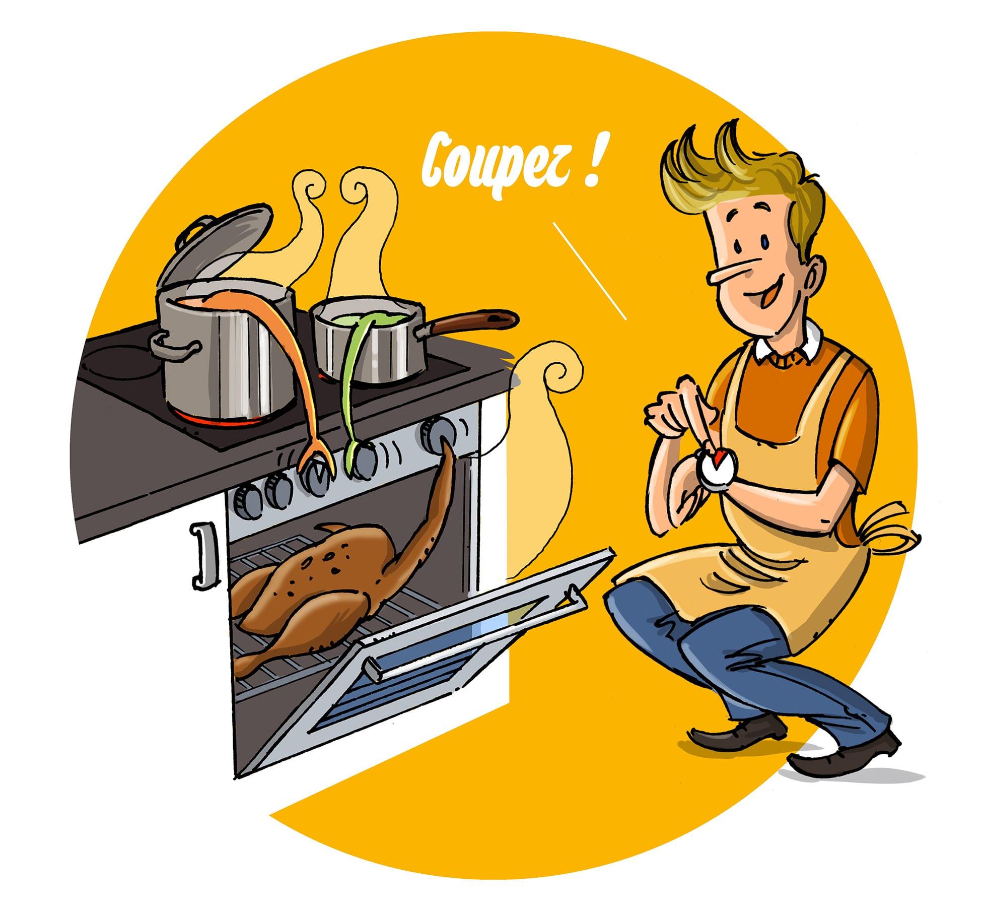 Coupez les taques électriques et votre four avant la fin de la cuisson