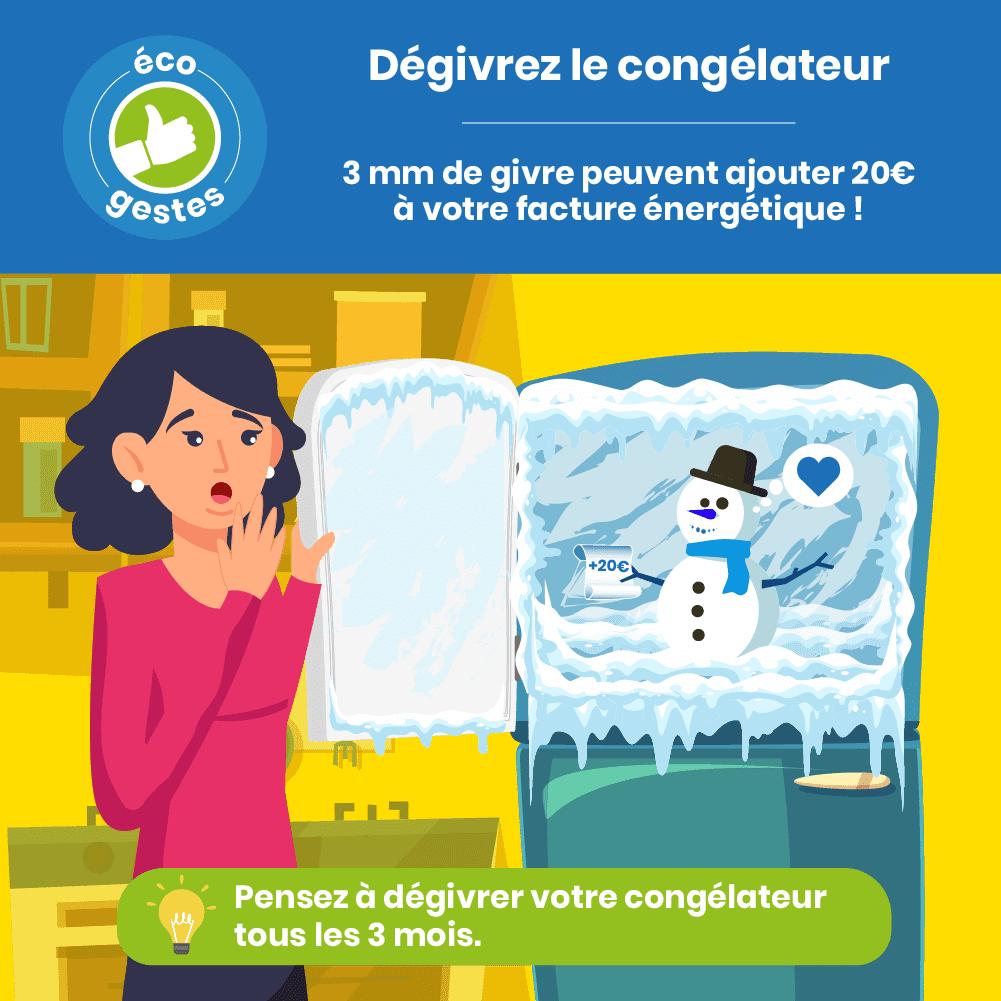 Ecogeste: Dégivrez votre frigo régulièrement