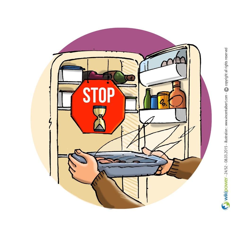 Ne pas mettre des aliments chauds dans le frigo
