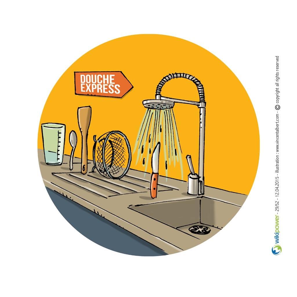 Rincer ustensiles de cuisine