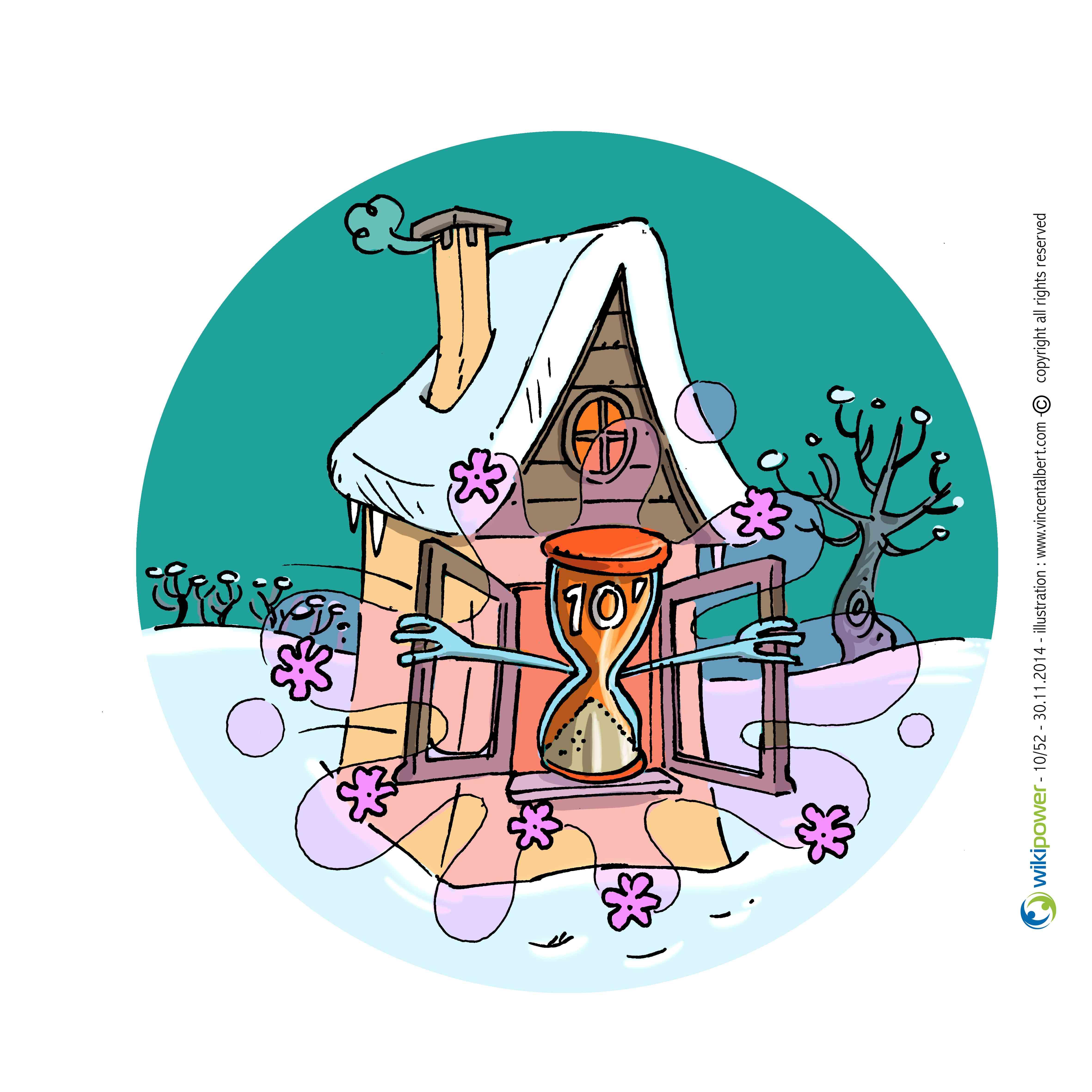 Conseil énergie dessin - Aérez votre habitation correctement