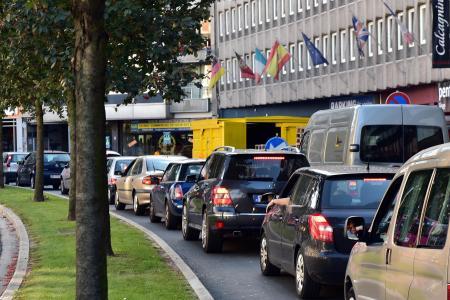 Bouchons dans les rues de Liège