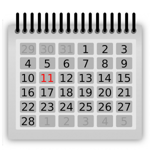 Calendrier pour prévoir la date d'arrivée du camion-citerne