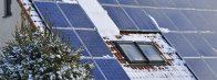 Panneaux photovoltaïques en hiver
