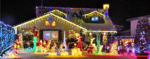 maison décorée pour noel